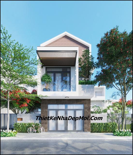 Mẫu nhà 2 tầng đơn giản 5x17m