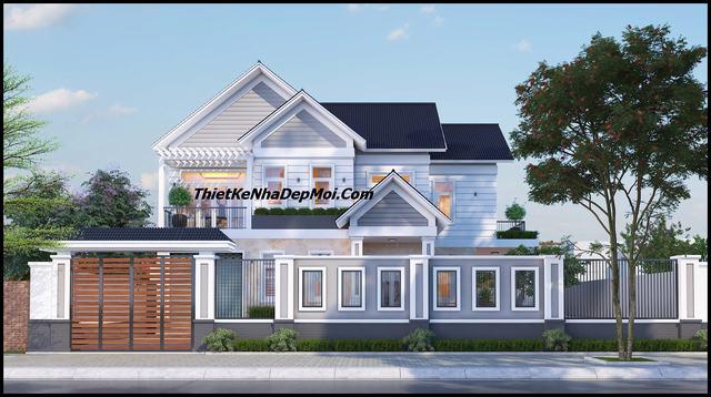 Biệt thự 1 trệt 1 lầu mái thái 2 mặt tiền 13x17m