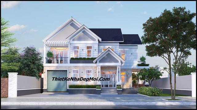 nhà đẹp 1 trệt 1 lầu mái thái