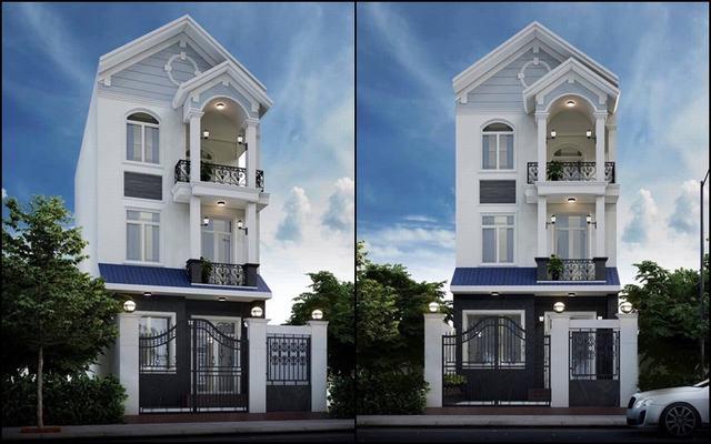 Thiết kế nhà 3 tầng 5x17m