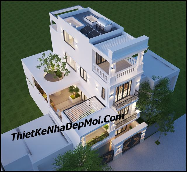 Thiết kế nhà có gara ô tô trong nhà