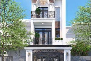 Thiết kế nhà mái ngói thành thị hiện đại 3 tầng 90m2