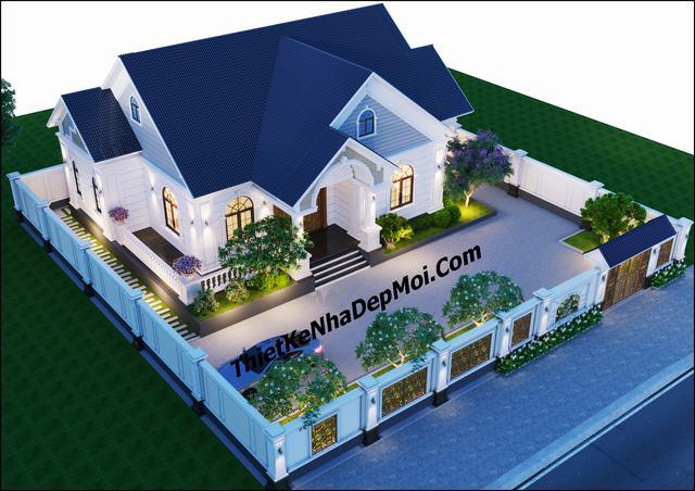 Thiết kế nhà vườn trệt 3 phòng ngủ 16x12