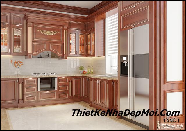 Phòng bếp biệt thự đẹp 200m2