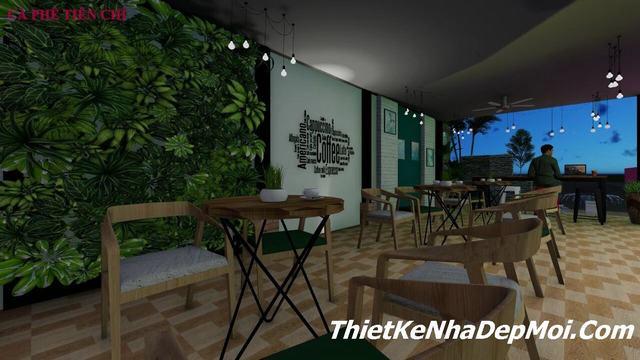 Thiết kế quán cà phê đơn giản 2020