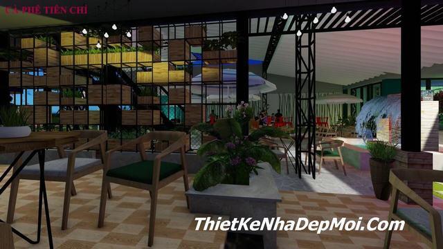 Mẫu quán cafe đơn giản hiện đại