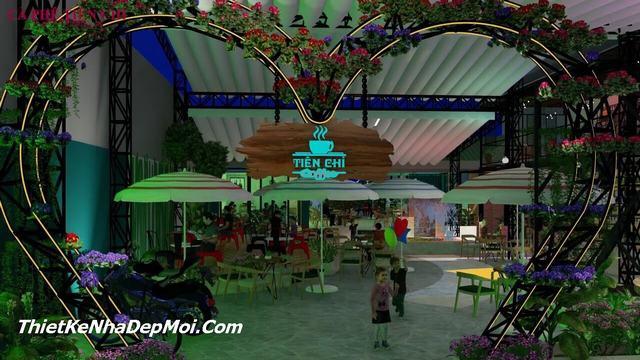 Thiết kế cổng quán cafe như thế nào