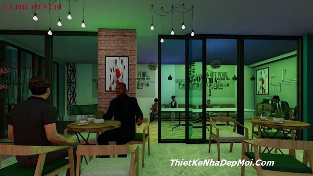 quán cafe vườn phong cách Mộc