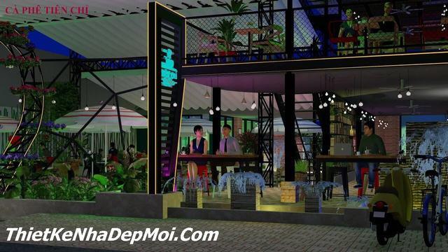 Quán cafe vườn phố 2 tầng