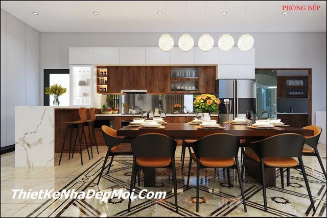 Phòng bếp hiện đại thiết kế đẹp