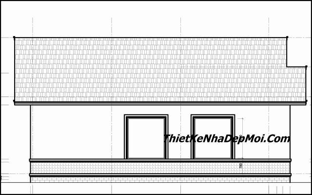 Bản vẽ cad nhà Thái cấp 4 120m2