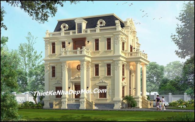 Biệt thự 3 tầng cổ điển 15x13m