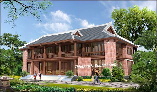 Mẫu thiết kế nhà gỗ 2 tầng đẹp