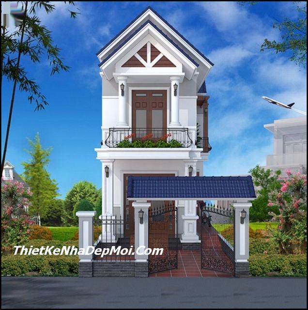 Mẫu nhà mái thái 2 tầng 3 phòng ngủ
