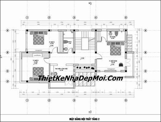 Biệt thự 3 tầng 5 phòng ngủ 8x16