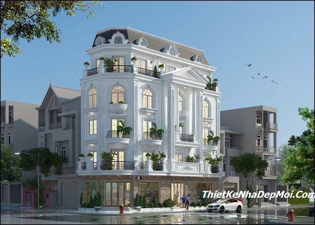 nhà biệt thự 5 tầng đẹp