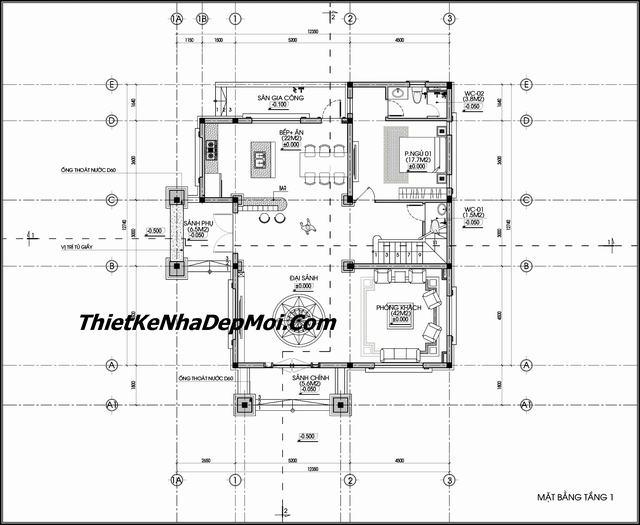 Biệt thự minieẹp 3 tầng hướng Nam