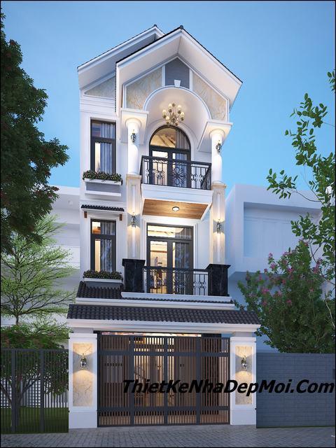 Mẫu nhà đẹp mặt tiền 5 mét 2020