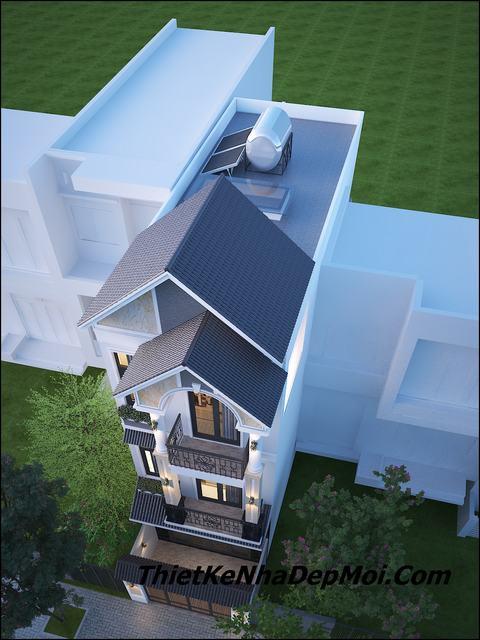 Nhà phố 3 tầng mái thái 5x20m