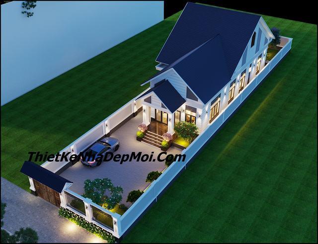 Nhà mái thái 1 tầng 3 phòng ngủ 9x20m