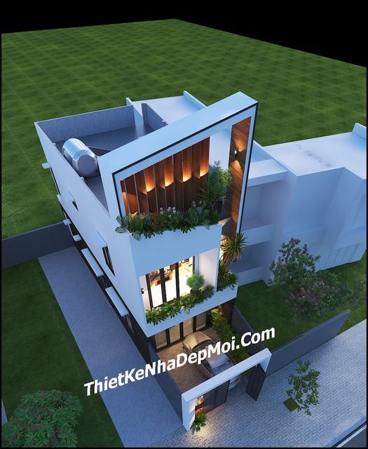 Mẫu nhà 2 tầng giá rẻ 4x15m