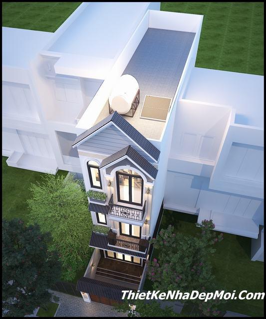 Mẫu nhà mặt tiền 4m hot 2020