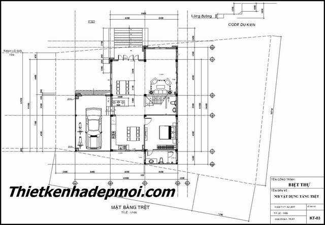 Thiết kế nhà vườn 2 tầng có gara