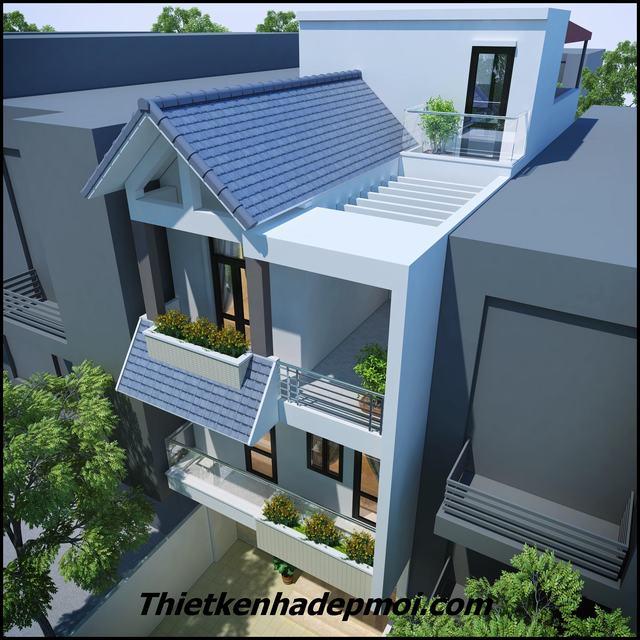 Mẫu nhà 3 tầng 6x15m hiện đại