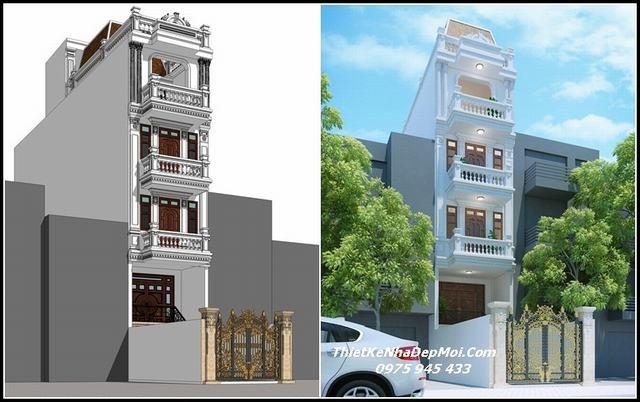 Bản vẽ nhà phố 6 tầng