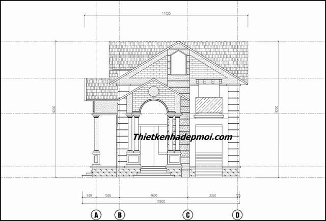 Bản vẽ nhà mái thái 1 tầng 140m2