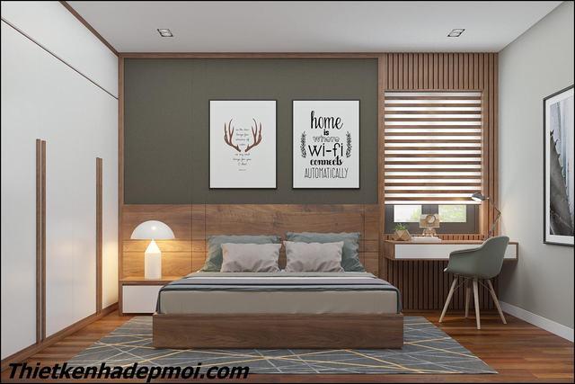 Nội thất phòng ngủ hiện đại 25m2