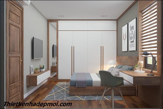 Nội thất phòng ngủ đẹp hiện đại 25m2