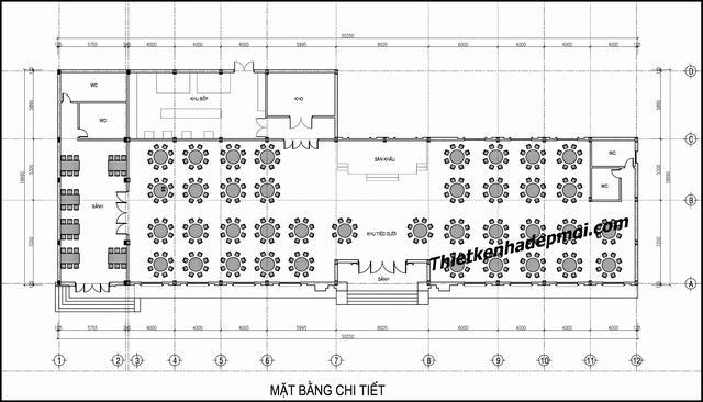 Bản vẽ thiết kế nhà hàng sân vườn 2019