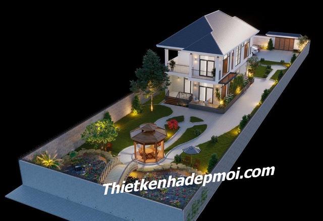Biệt thự nhà vườn hiện đại 1.5 tỷ