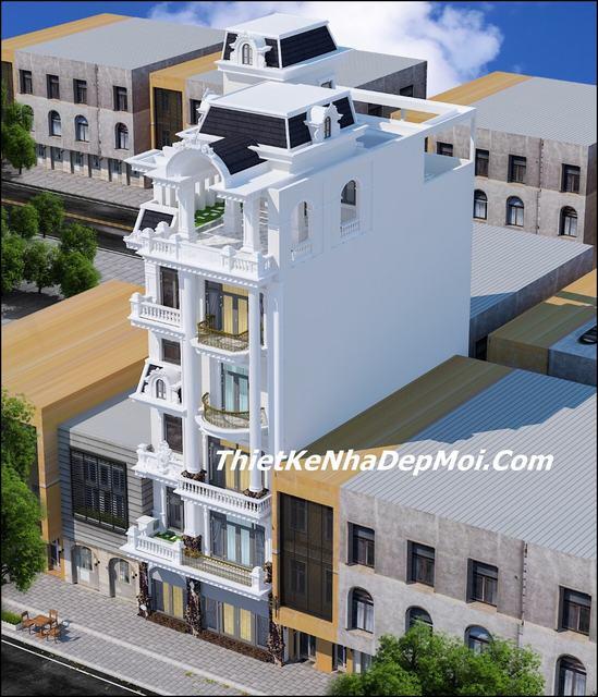 Phối cảnh nhà phố 5 tầng mặt tiền 8.5m