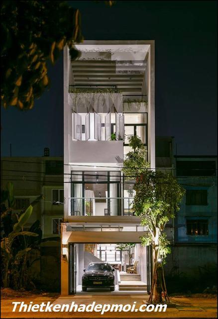 Xây nhà 3 tầng hiện đại 80m2 ngang 5m