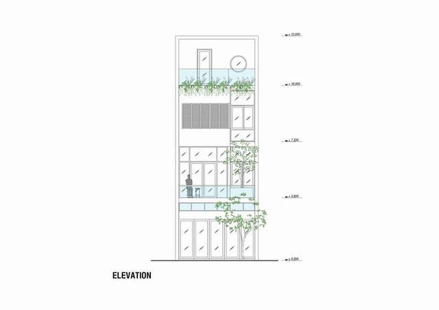 Bản vẽ kiến trúc nhà phố 3 tầng 1 tum 5x16m