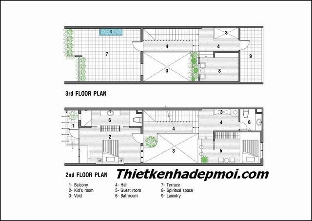 Chi phí xây nhà 3 tầng 80m2 năm 2020