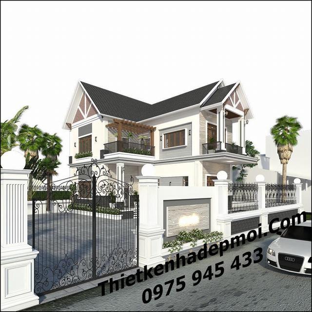 Mẫu nhà 2 tầng đơn giản ở nông thôn 9x13m