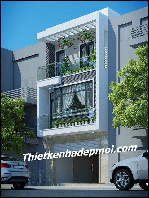 xây nhà 3 tầng 60m2