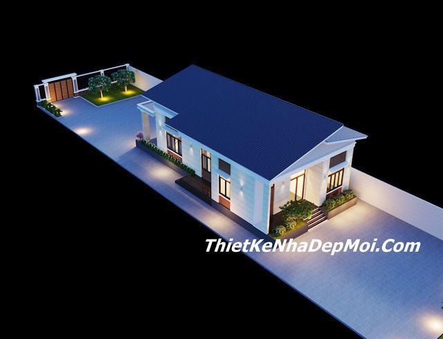 nhà cấp 4 mái lệch, Mẫu nhà mái lệch cấp 4 trệt đẹp 3 phòng ngủ thiết kế cho chú Bùi Lên, Công ty thiết kế xây dựng Nhà Đẹp Mới, Công ty thiết kế xây dựng Nhà Đẹp Mới