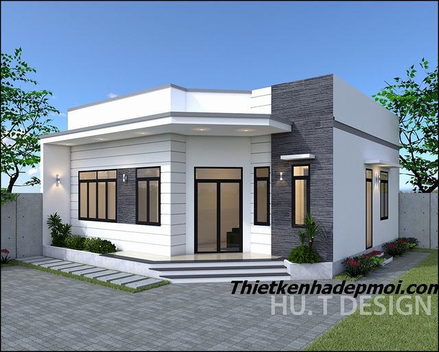 Thiết kế nhà cấp 4 10x10 3 phòng ngủ