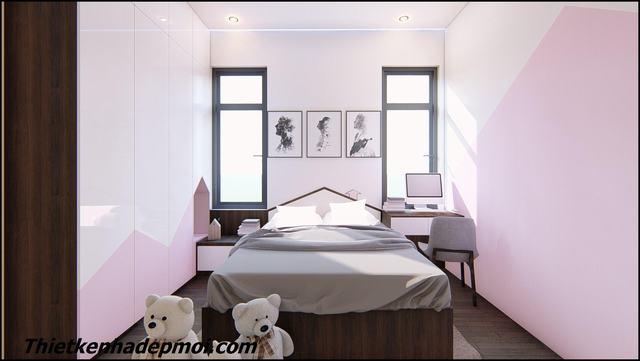 Bản vẽ nội thất nhà ống phòng ngủ