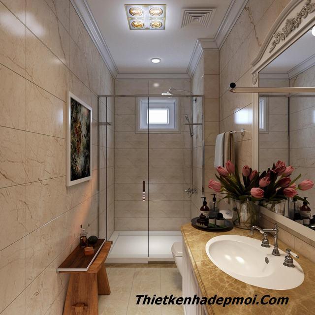 Thiết kế nhà vệ sinh 6m2