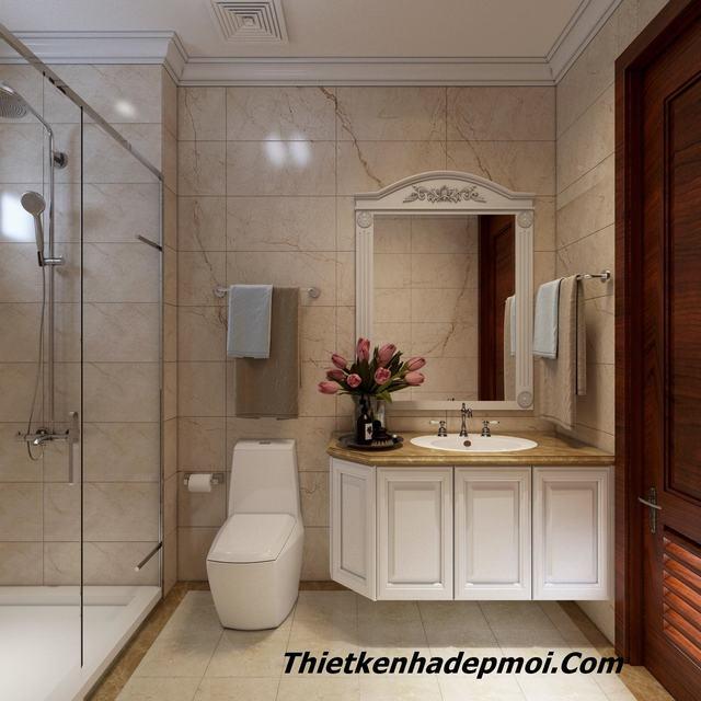 Mẫu thiết kế nhà vệ sinh rộng 6m2