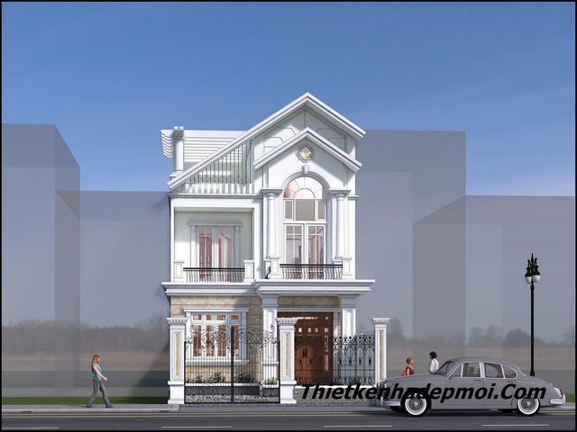 Bản vẽ xây nhà 2 tầng 7x14m 2020