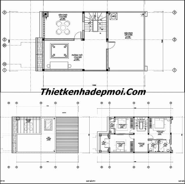 giá xây nhà 2 tầng 1 tum 100m2 2002