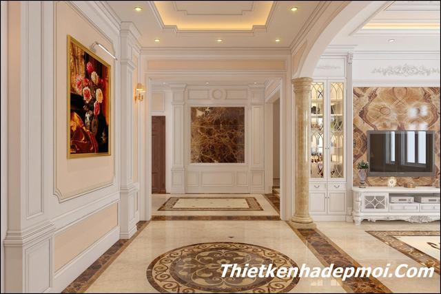 Thiết kế nội thất biệt thự tân cổ điển 170m2