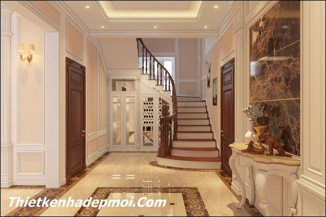 Trang trí nội thất cầu thang nhà đẹp 2020