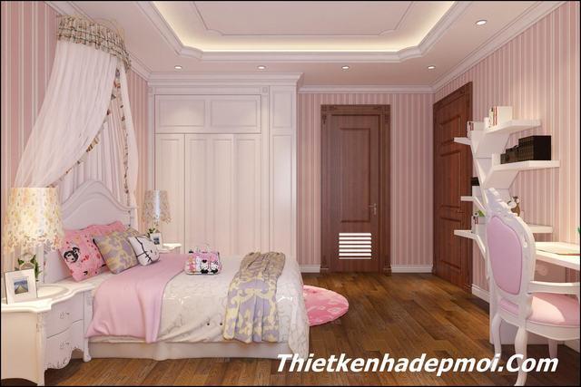 Thiết kế phòng ngủ cho con gái mới lớn